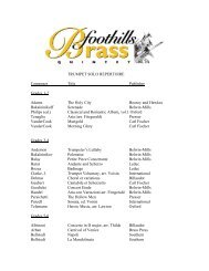 TRUMPET SOLO REPERTOIRE Composer Title Publisher Grades 1 ...