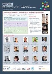 Mipim Innovation Forum Programme - architects24.com