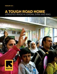 A Tough RoAd home - International Rescue Committee
