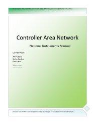 Controller Area Network - Rensselaer Polytechnic Institute