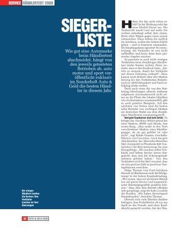SIEGER- LISTE - Autohaus Rosier