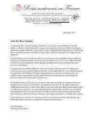 Lettre de septembre 2011 - Roses Anciennes en France