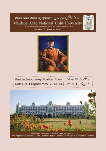 3 - Maulana Azad National Urdu University