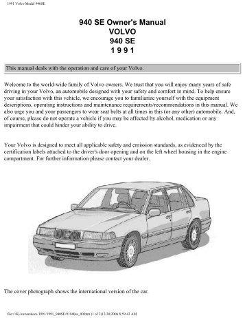 1986 volvo 740 gl gle turbo rh yumpu com 1991 Volvo 740 Stock-Photo 1991 Volvo 760
