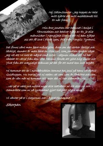 Inbjudan från Skorpan