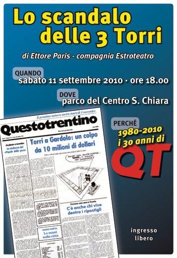 "Teatro ""Lo scandalo delle 3 Torri"" - Questotrentino"