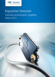 Kapazitive Sensoren - Baumer