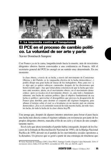 El PCE en el proceso de cambio político. La voluntad ... - Viento Sur