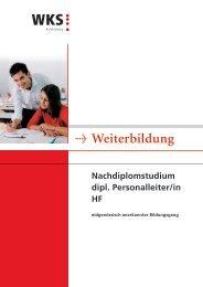 Detailbroschüre Dipl. Personalleiter/in NDF HF - KV Bildungsgruppe ...