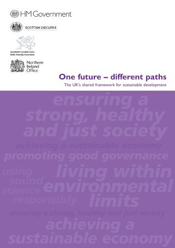 One future – different paths - Sustainable Development Commission