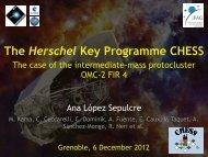 The Herschel Key Programme CHESS - Institut de Planétologie et d ...