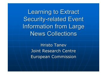 Learning to Extract Security-related Event Information from Large ...