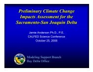 Preliminary Climate Change Impacts Assessment ... - Bay-Delta Office