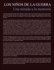 LOS NIÑOS DE LA GUERRA Una mirada a la memoria - Archivo ...