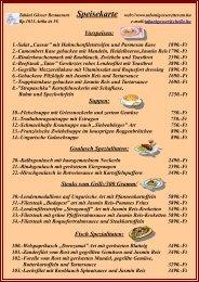Vorspeisen - Tabáni Gösser étterem.