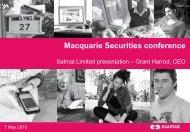 Macquarie Securities Conference Presentation - Salmat