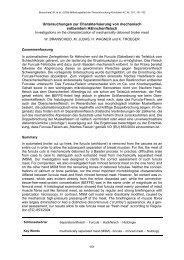 Untersuchungen zur Charakterisierung von mechanisch entbeintem ...