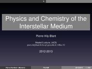 Physics and Chemistry of the Interstellar Medium - Institut de ...