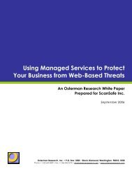 Using Managed Services to Protect Your Business from Web-Based ...