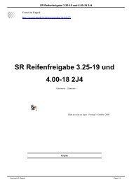 SR Reifenfreigabe 3.25-19 und 4.00-18 2J4 - Ratpak