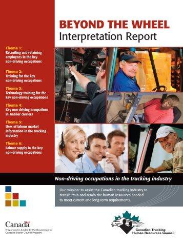 Beyond the Wheel - Interpretation Report - Canadian Trucking ...