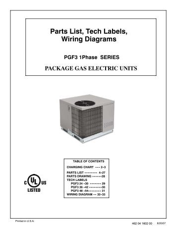 parts list charging chart tech labels wiring diagrams pgx3 36 parts list tech labels wiring diagrams pgf3 1phase series