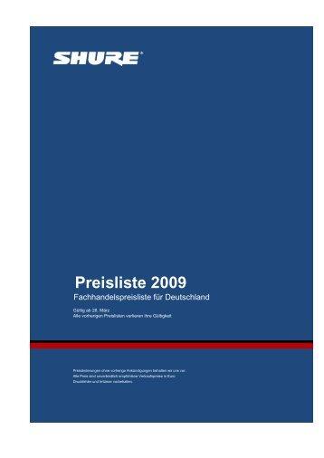 Preisliste 2009 - RR-Showtechnik