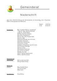 2009 Sitzung 6 (November) (104 KB) - .PDF - Stadtgemeinde ...