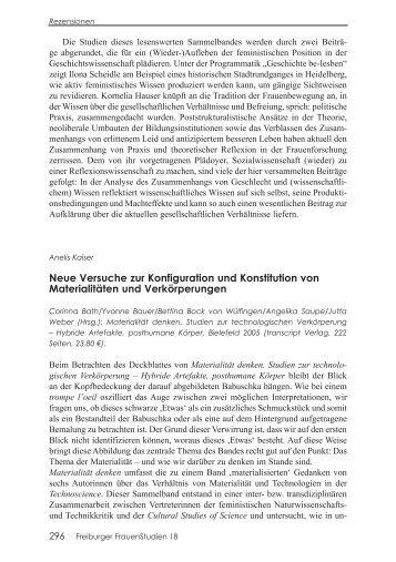 Neue Versuche zur Konfiguration und Konstitution von ...