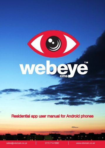 webeye cms Android Residential Manual
