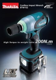 BTW152 Cordless Impact Wrench - Makita