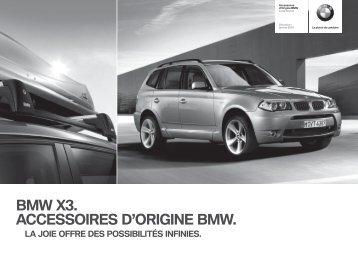 E83 CHfr Titel.indd - BMW Avec insert décoratif noir. Pour véhicules ...