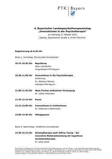 Programm - PTK Bayern
