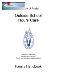 Family Handbook - St Clare of Assisi Primary School