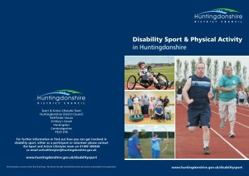 Disability Sport 2013 - Huntingdonshire District Council