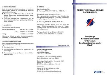 Bej Robert Schuman Schule Baden Baden