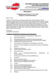 österreichischer fachverband für orientierungslauf protokoll - ÖFOL