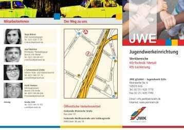 Flyer JWE - JWK gGmbH – Jugendwerk Köln