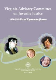 Virginia Advisory Committee on Juvenile Justice: 2006 - 2007