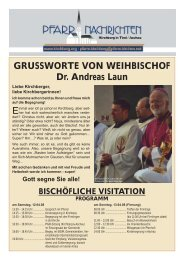 April / Mai 2008 - Gemeinschaft vom heiligen Josef