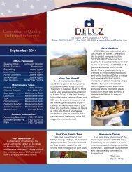 September 2011 - DeLuz Family Housing
