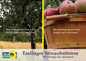 Esslinger Streuobstbörse - Bündnis 90/Die Grünen Esslingen am ...