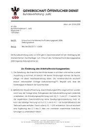 GEWERKSCHAFT ÖFFENTLICHER DIENST - ZA Justiz