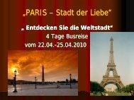 """PARIS Stadt der Liebe"""" Stadt der Liebe"""" - Lks-reisen.de"""