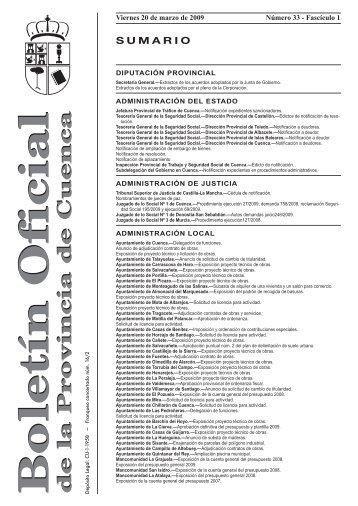 Boletín Oficial de la Provincia de Cuenca - Diputación Provincial de ...