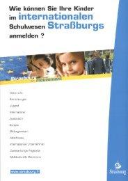 das internationale Schulwesen in Straßburg herunterladen