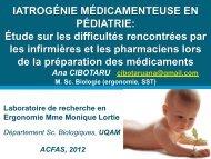 Consultez la conférence - Réseau de recherche en santé et sécurité ...