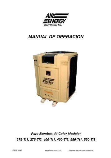 Heat Pump Spanish Manual 50 hz V7.pdf - Teknoimport.cl