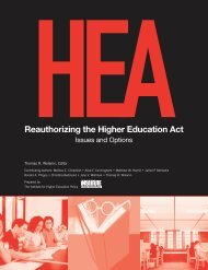Issues and Options - Institute for Higher Education Policy (IHEP)