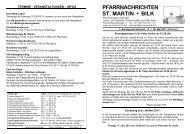 PFARRNACHRICHTEN ST. MARTIN • BILK - des Pfarrverbandes ...